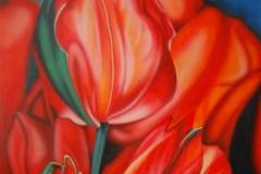 Tulpen op Hout 60x80
