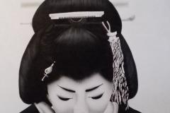 Geisha op Trespa 60x75 cm