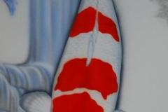 Japanse-Koi-Kohaku-op-Trespa 35x75 cm