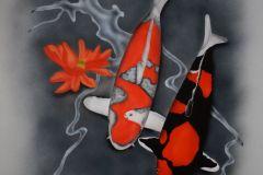 Showa en Goshiki op Trespa 60x60 cm