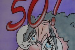 50-sarah op Hout 50x40 cm