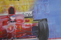 Ferrari-formule-1 op Doek 50x60 cm