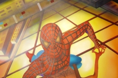 Spiderman op papier 50x60 cm