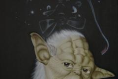 Starwars op doek 40x50 cm