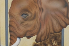Olifant op Doek 40x50 cm