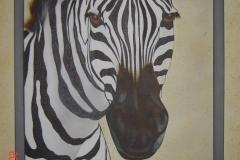 zebra op Doek 40x50 cm